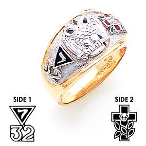 Scottish Rite Ring - 14k Gold