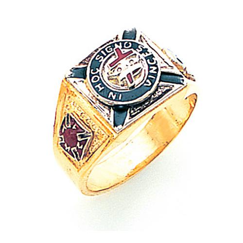 10kt Yellow Gold Designer Knights Templar Ring