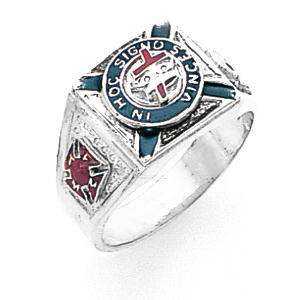 Sterling Silver Knights Templar Ring