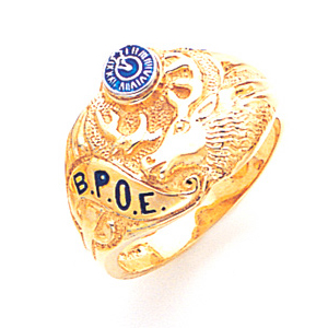 Goldline Elk Ring - 10k Gold