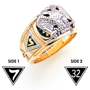 10kt Gold Goldline Scottish Rite 32nd Degree Ring