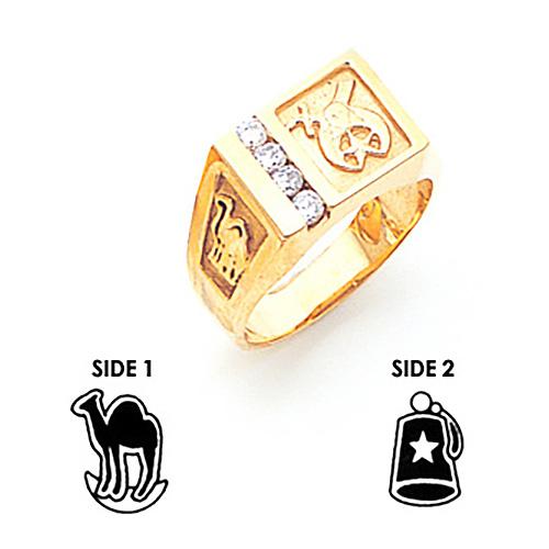 Diamond Shrine Ring - 14k Gold
