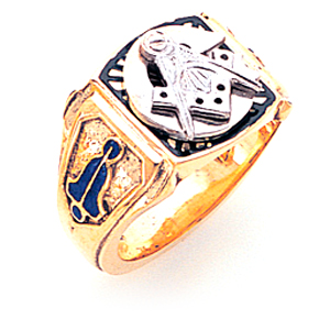 Blue Lodge Ring with Diamonds - 10k Gold