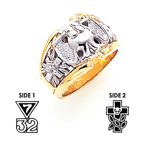 Jumbo Scottish Rite Ring - 10k Gold