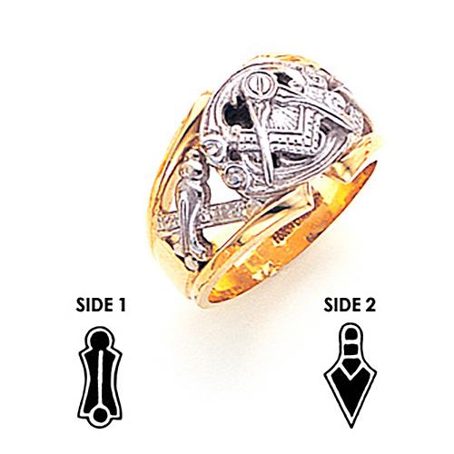 Fancy Blue Lodge Ring - 10k Gold