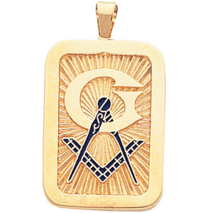 10kt Yellow Gold 1 1/4in Masonic Pendant with Oversized G