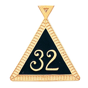 7/8in Masonic Scottish Rite Pendant - 14k Gold