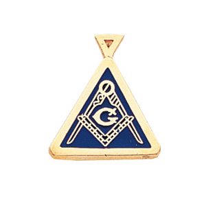 14kt Yellow Gold 3/4in Masonic Triangle Pendant
