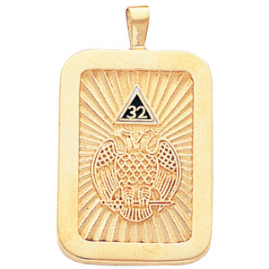 1 1/4in Scottish Rite Pendant - 10k Gold