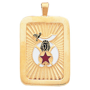 1 1/4in Shrine Masonic Pendant - 14k Gold