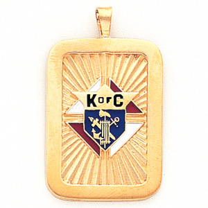 1 1/4in Knights of Columbus Pendant - 14k Gold