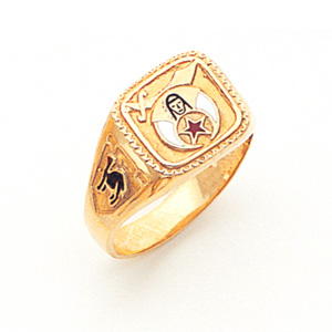 Oblong Shrine Ring - 10k Gold