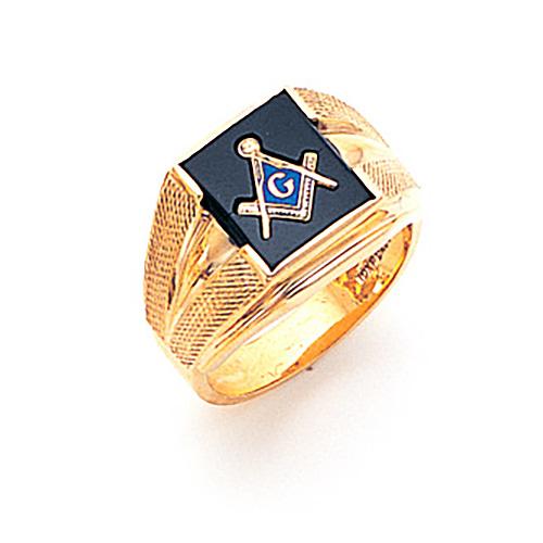 Goldline Blue Lodge Ring - 10k Gold