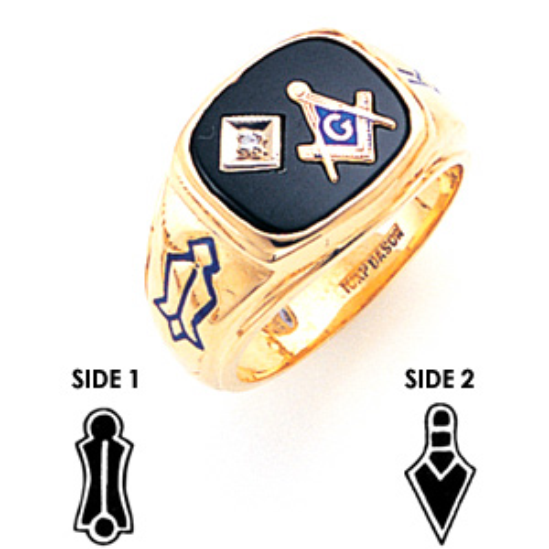 Goldline Blue Lodge Ring Diamond - 10k Gold