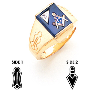 Goldline Blue Lodge Ring Diamond - 14k Gold