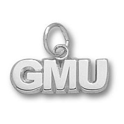 Sterling Silver 3/16in George Mason University GMU Pendant