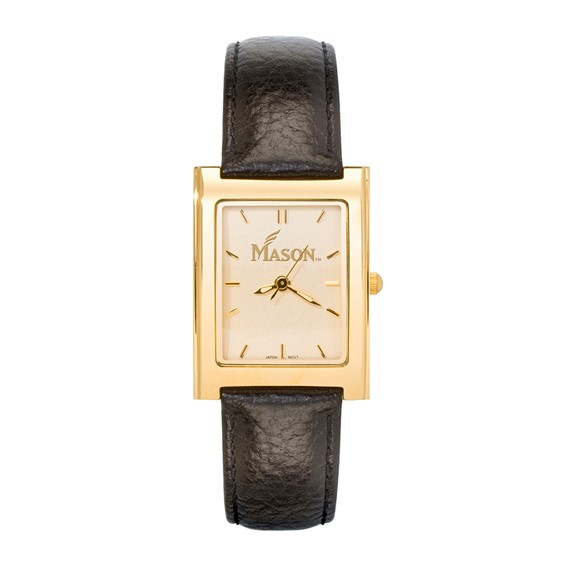 George Mason University Elite Leather Watch