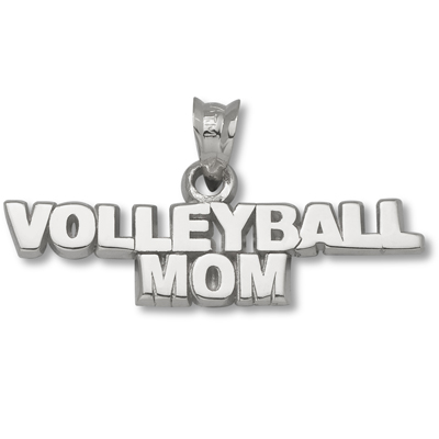 Sterling Silver Volleyball Mom 1/4in Pendant