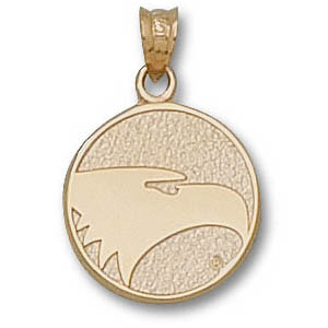 10kt Yellow Gold 5/8in Georgia Southern Eagles Face Pendant
