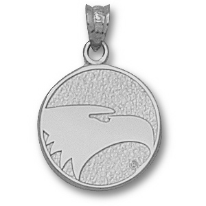 Sterling Silver 5/8in Georgia Southern Eagles Face Pendant