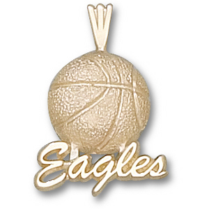 Georgia Southern Eagles 3/4in 10k Basketball Pendant