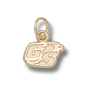14kt Yellow Gold 1/4in Georgia Southern Eagles GS Charm