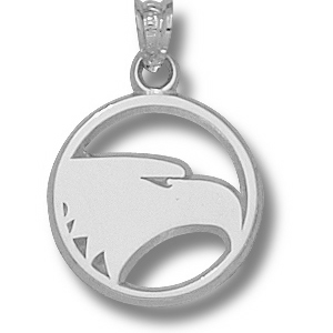 Sterling Silver 5/8in Georgia Southern Eagles Pendant
