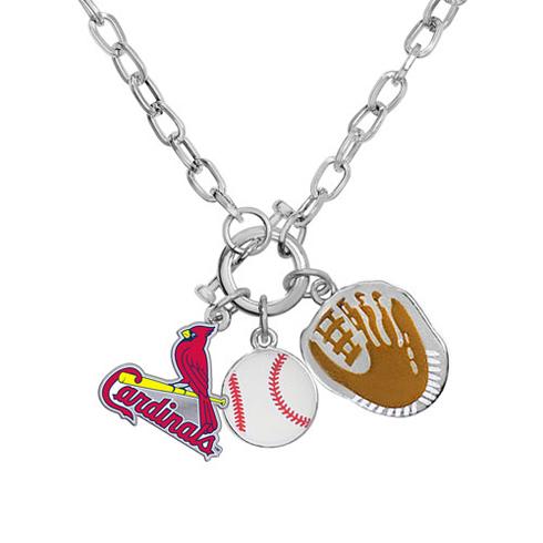 st louis cardinals fanfare necklace 101639 jewelers