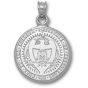 Sterling Silver 3/4in Georgia Tech Seal Pendant