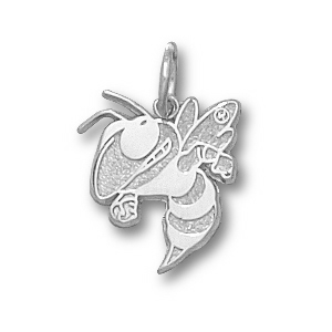 Sterling Silver 3/8in Georgia Tech Buzz Charm
