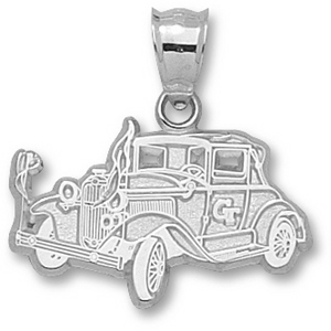Georgia Tech Yellow Jackets 5/8in Sterling Silver Car Pendant
