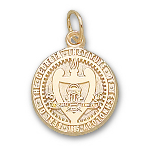 14kt Yellow Gold 9/16in Georgia Tech University Seal Pendant