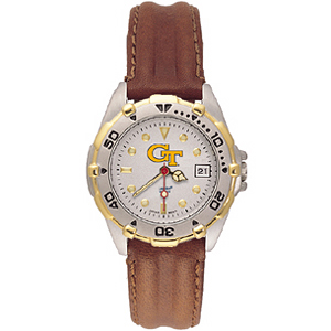 Georgia Tech University Ladies' All Star Leather Watch