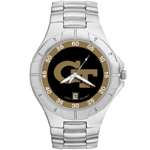 Georgia Tech Yellow Jackets Mens Stainless Pro II Watch