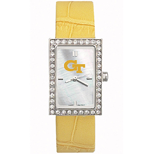 Georgia Tech Yellow Jackets Starlette Leather Watch