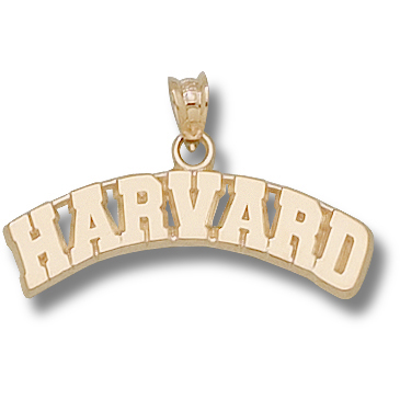 14kt Yellow Gold Arched Harvard Pendant
