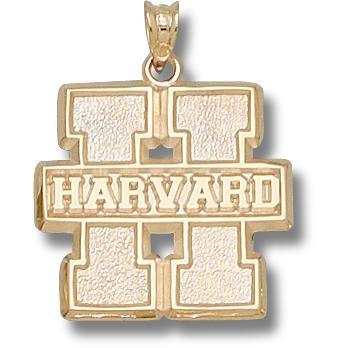 Harvard 3/4in Pendant 10kt Yellow Gold