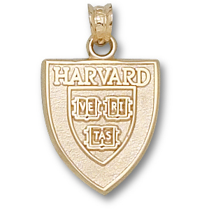Harvard 5/8in Pendant 14kt Yellow Gold