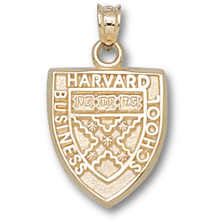 14kt Yellow Gold 5/8in Harvard Business School Pendant