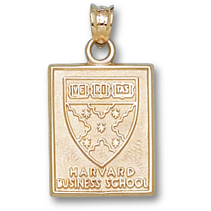 Harvard Business 5/8in Pendant 10kt Yellow Gold