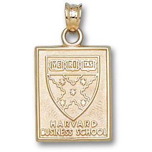 Harvard Business 5/8in Pendant 14kt Yellow Gold
