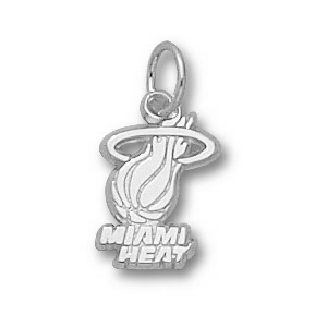 Sterling Silver 3/8in Miami Heat Logo Pendant