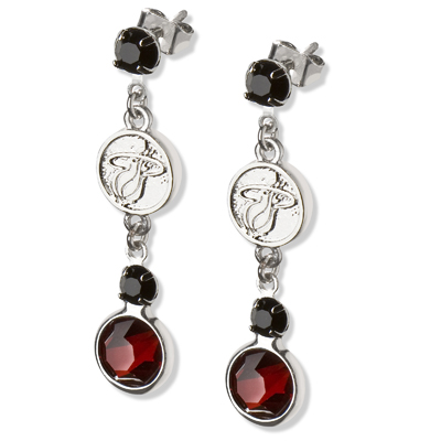 Miami Heat Crystal Logo Earrings