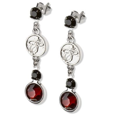 Miami Heat Crystal Logo Earrings