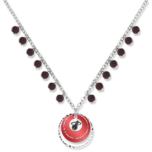 Miami Heat Game Day Necklace