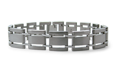 Titanium 8.5in Wide Link Bracelet