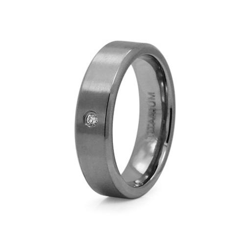 8mm Titanium Ring with CZs