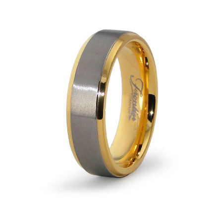 Gold-Plated 6.5mm Titanium Ring