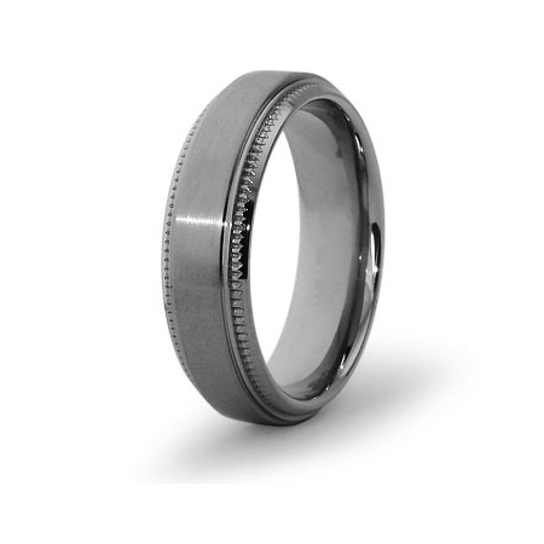 Titanium 6.5mm Ring with Milgrain Edges