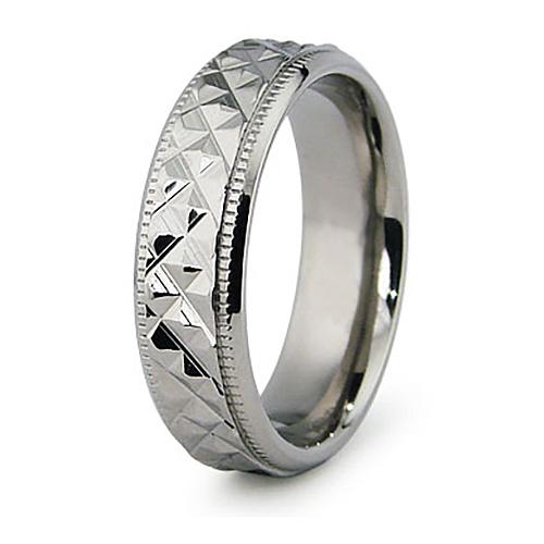 Titanium 6.5mm Textured Ring